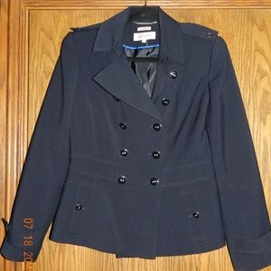 Women's Calvin Klein Navy Button Down Jacket